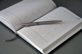 Pen oh the opened notebook