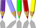 Pen set color 04 Royalty Free Stock Photos
