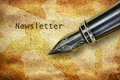 Pen and word Newsletter Royalty Free Stock Photo