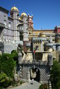 Pena national palace in portugal Royalty Free Stock Image