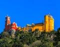 Pena National Palace,  Sintra, Lisbon, Portugal. Royalty Free Stock Photo