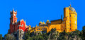 Pena National Palace,  Sintra, Lisbon, Portugal. Royalty Free Stock Photo