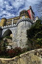 The pena national palace summer residence of monarchs of portugal during th th century one of seven wonders of Stock Photos