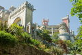 Pena national palace was constructed reflects flamboyance king fernando ii exterior palacio nacional da pena stunning piece art Stock Images