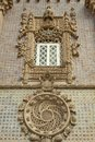 Pena national palace was constructed reflects flamboyance king fernando ii exterior palacio nacional da pena stunning piece art Royalty Free Stock Images