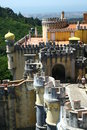 Pena palace in sintra portugal Royalty Free Stock Images