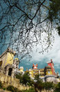 Pena palace view of the in sintra national park portugal Stock Image