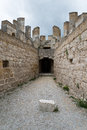 Penafiel castle valladolid spain inside from Stock Photos