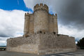 Penafiel castle valladolid spain outside from Royalty Free Stock Photo