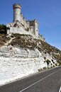 Penafiel Castle (Vertical) with road Stock Images