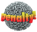 Penalty 3d Word Excalmation Point Mark Ball Punishment Fine Royalty Free Stock Photo