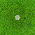 Penalty point on football grass field. Stock Photography