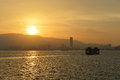 Penang malaysia jul the beautiful sunset of penang Royalty Free Stock Image