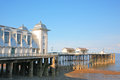Penarth pier with a zinc roof against a blue sky Stock Photography
