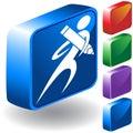 Pencil 3D Icon Stock Image