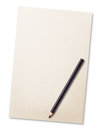 Pencil on blank white paper Royalty Free Stock Images