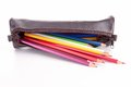 Pencil case isolated Royalty Free Stock Photo