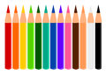 Pencil colors illustrations art work Royalty Free Stock Photos