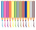 Pencil colors vector and paint Stock Photos