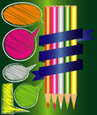 Pencil colors vector and paint Royalty Free Stock Photography
