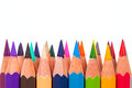 Pencil colors on a white background Stock Photography