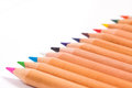 Pencil colors on a white background Royalty Free Stock Photo