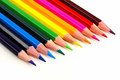 Pencil crayon close up Royalty Free Stock Photo