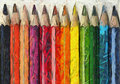 Pencil crayons color sketch of a on a white background Royalty Free Stock Photography