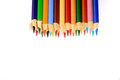Pencil crayons isolated on white Royalty Free Stock Photography