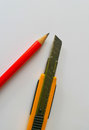 Pencil and cutter Royalty Free Stock Photo