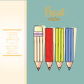 Pencil design over blue background vector illustration Royalty Free Stock Photos