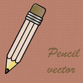 Pencil design over dotted background vector illustration Royalty Free Stock Images
