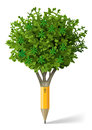 Pencil in the form of a tree Royalty Free Stock Photo