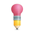 Pencil with Light Bulb Shaped Eraser