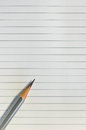 Pencil lined paper background Royalty Free Stock Images