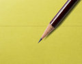 Pencil on a note pictured paper Royalty Free Stock Photography