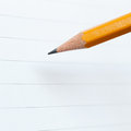 Pencil and notebook paper Royalty Free Stock Photo
