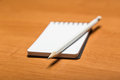 Pencil and notepad Royalty Free Stock Photo