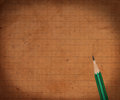 Pencil and old paper Royalty Free Stock Photo
