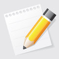 Pencil on paper Royalty Free Stock Photo