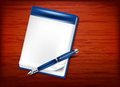 Pencil and paper notebook Royalty Free Stock Image