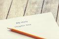 Pencil and paper for writer. Royalty Free Stock Photo