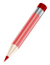 Pencil red icon on white background Royalty Free Stock Images
