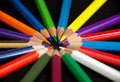 Pencil s a bunch of pencils arrange in circle shape Royalty Free Stock Image