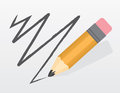 Pencil scribble large scribbling a line Royalty Free Stock Photos