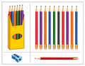 Pencil Set Stock Photo
