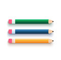 Pencil set flat design multicolor in Royalty Free Stock Image