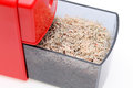 Pencil sharpener with pencil trash Royalty Free Stock Photo