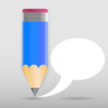 Pencil with speech bubble vector illustration this is file of eps format Stock Photography