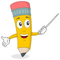 Pencil the Teacher Character Royalty Free Stock Photo